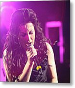 Carly On Stage Metal Print