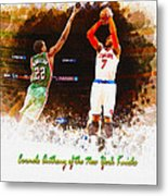 Carmelo Anthony Of The New York Knicks Metal Print