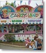 Carnival Candy Land Metal Print