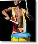 Carnival Drummer Metal Print