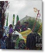 Carnival Girls At Play In Costume  Metal Print