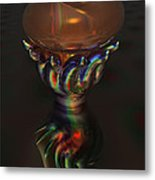 Carnival Glass Bulb Sprouter  Metal Print