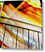 Carnival Ride Fence Metal Print