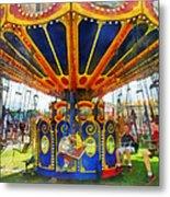 Carnival - Super Swing Ride Metal Print