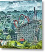Carnival - The Thrill Ride Metal Print by Mike Savad