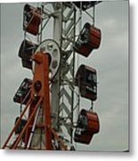 Carnival Zipper Metal Print