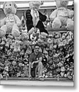 Carny Worker Monchrome Metal Print