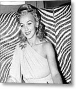 Carole Landis, At El Morocco, Ca. Early Metal Print