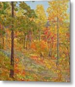 Carolina Autumn Gold Metal Print