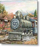 Carolina Morning Train Metal Print