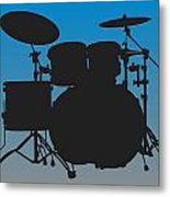 Carolina Panthers Drum Set Metal Print
