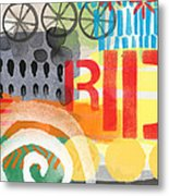 Carousel #6 Ride- Contemporary Abstract Art Metal Print