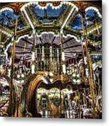 Carousel At Hotel Deville Metal Print