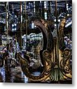 Carousel At Night Metal Print