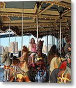 Carousel Brooklyn Bridge Park Metal Print