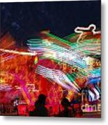 Carousel By Night Metal Print