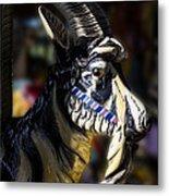 Carousel Goat Metal Print