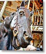 Carousel Horse Head Metal Print