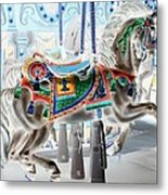 Carousel Horse In Negative Colors Metal Print