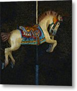 Carousel Horse Painterly Metal Print