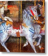 Carousel Horse Photo Art 02 Metal Print