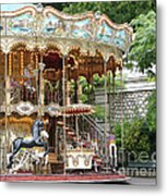 Carousel In Paris Metal Print