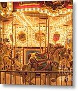Carousel Night Lights Metal Print