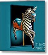 Carousel Zebra Metal Print
