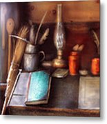 Carpenter - In A Carpenter's Workshop  Metal Print