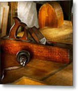 Carpenter - The Humble Shop Plane Metal Print