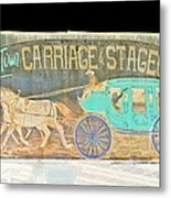 Carriage And Stagecoach Color Invert Metal Print