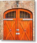 Carriage House Doors Metal Print