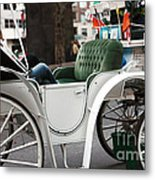 Carriage Ride In Central Park Metal Print by John Rizzuto