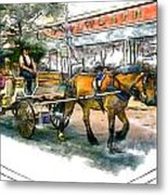 Carriage Ride Metal Print