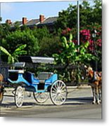 Carriage Tours New Orleans Metal Print