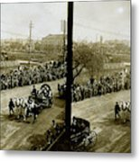 Carriages Carrying Admiral Togo Metal Print