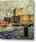 Starry Carrickfergus Castle Metal Print