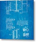 Carrier Air Conditioning Patent Art 1906 Blueprint Metal Print