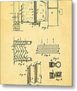 Carrier Air Conditioning Patent Art 1906 Metal Print