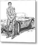 Carroll Shelby And Csx 2000 Metal Print