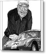 Carroll Shelby    Rest In Peace Metal Print