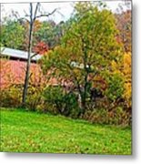 Carrollton Covered Bridge 2 Metal Print