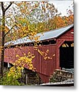 Carrollton Covered Bridge Metal Print