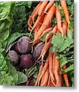 Carrots And Beets Metal Print