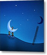 Carry The Moon Metal Print