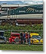 Cars And Trains Metal Print