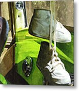 Cars - Baby Shoes Metal Print