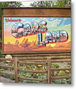 Cars Land Metal Print