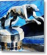 Cars - Lincoln Greyhound Hood Ornament Metal Print
