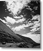 cars on the road around the Iveragh Peninsula Ring of Kerry Metal Print